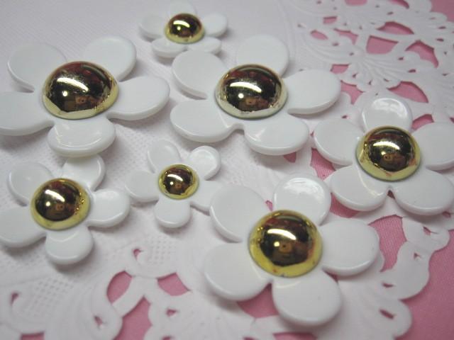 画像1: 白の花4個セット (1)